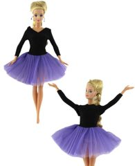 Barbie Ballet Clothes-Barbie Tutu-Ballet Slippers-Pearl Earrings