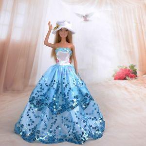 Barbie Gown-Satin Hat-Barbie Shoes