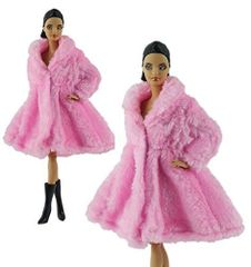 Pink Barbie Fur Coat-Modest Barbie Clothes