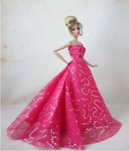 Evening Barbie Gown-Barbie Shoes