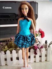 Fun Satin Barbie Dress-Barbie Shoes