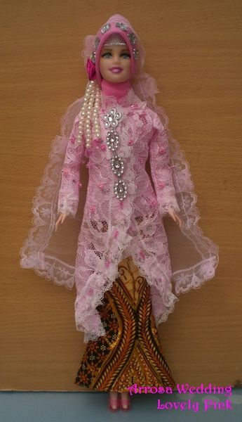 Pink Barbie Wedding Dress Veil Jacket Shirt Skirt Jewelry Shoes