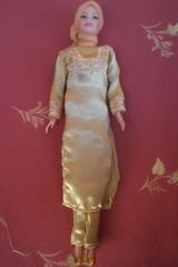 Satin Diverse Doll-Handmade-Tunic Dress-Pants-Scarf-Shoes