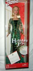 2003 Holiday Joy Barbie-Brush-Earrings-Necklace-Ornament