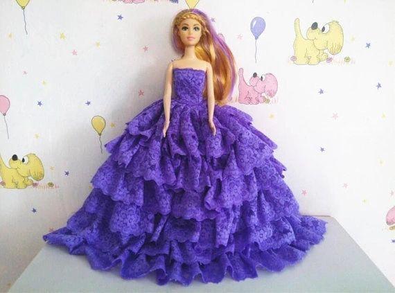 Lace Barbie Gown-Barbie Shoes-