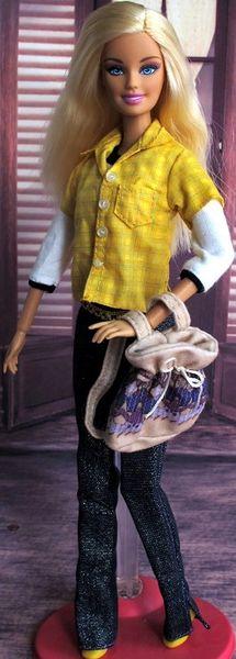 Barbie Casual 2 Shirts Purse Belt Jeans Shoes