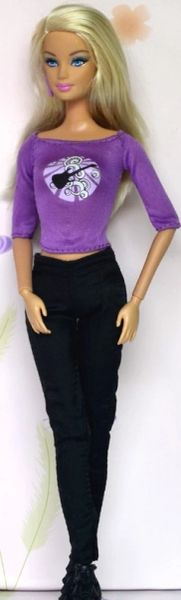 Barbie Casual Wear-Purple Barbie Shoes