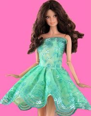 Lace Barbie Dress-Modest Barbie Clothes-Shoes