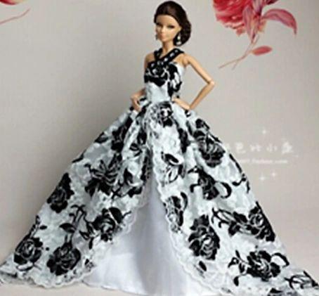 Barbie Gown-Modest Barbie Dress-Barbie Shoes