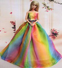 Rainbow Barbie Gown-Barbie Shoes