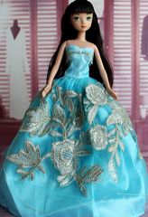 Baby Blue Barbie Gown-Barbie Shoes