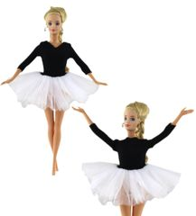 Barbie Ballet Tutu-White Ballet Slippers-Modest Barbie Clothes