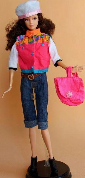 Barbie Casual Wear Hat Vest Shirt Pants Belt Shoes Purse