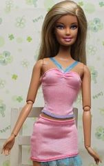 Pink Barbie Skirt Set-Modest Barbie Clothes-Shoes