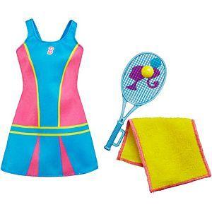 Tennis Time Barbie Set-Tennis Racket-Towel-Sneakers