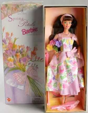 1996 Brunette Avon Exclusive Spring Petals Barbie Doll