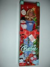 CHRISTMAS MORNING BARBIE DOLL-2005-SPECIAL EDITION-SNOWMAN-GIFT