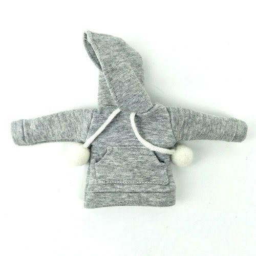 Grey Barbie Hooded Sweat Jackets With Pockets & Pom Poms
