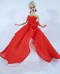 Barbie Ballgown-Red Barbie Shoes