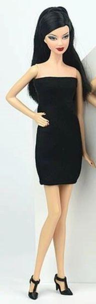 Barbie Little Black Dress Barbie Evening Dress Barbie Doll Dress