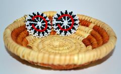 Starburst Earrings (Red & Black)