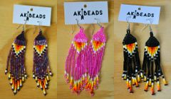 AK Beads Fringe Earrings
