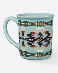 Pendleton Tucson Aqua Jacquard Ceramic Mug