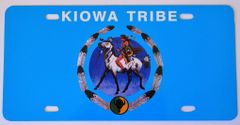Kiowa Tribe Vehicle Plate