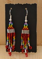 Metallic Beaded Earrings
