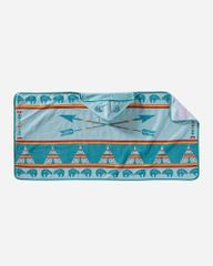Pendleton Hooded Baby Towel Star Guardian Turquoise