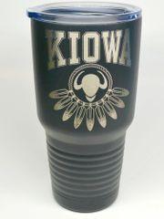 KIOWA w/buffalo head logo 30oz Tumbler