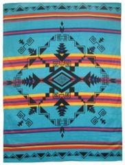 God's Eye Turquoise Blanket