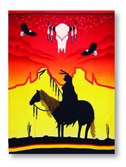 Sunset Warrior Blanket