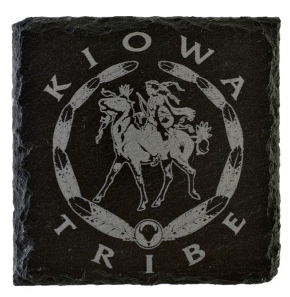 Kiowa Logo Slate Coaster (Engraved)