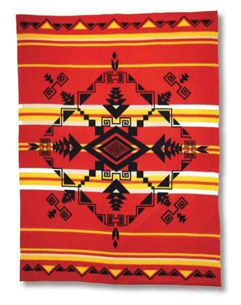 God's Eye Red Polar Fleece Blanket