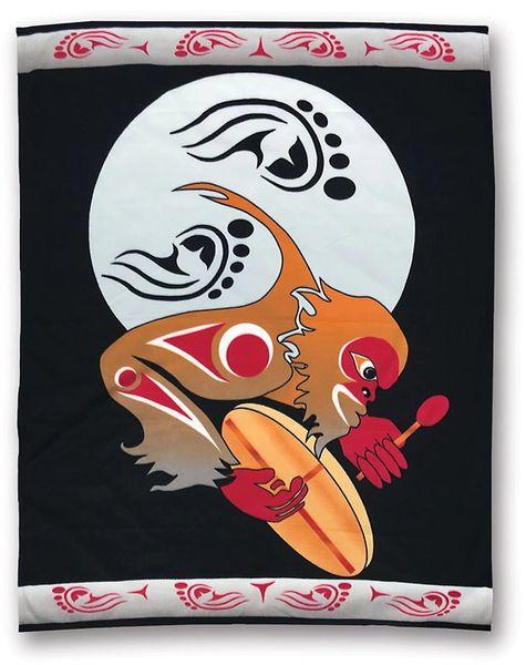 Drum to Sasquatch Night Polar Fleece Blanket