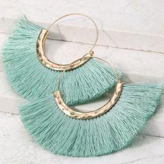 Emma Earrings - Mint