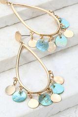 Mia Earrings - Blue
