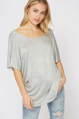 Avery Top - Grey & Blush