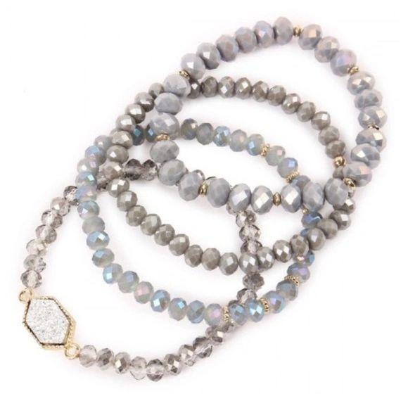 Rylee Bracelets - Grey