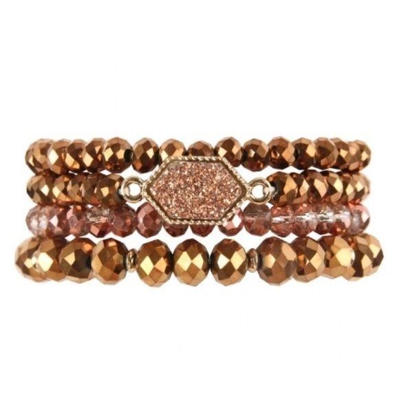 Rylee Bracelets - Champagne