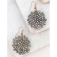 Sadie Earrings - Hematite