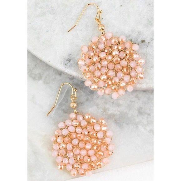 Sadie Earrings - Opal Pink