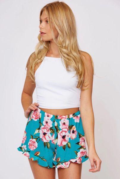 Brielle Shorts - Teal