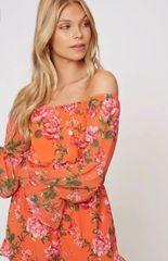 Caroline Romper - Orange