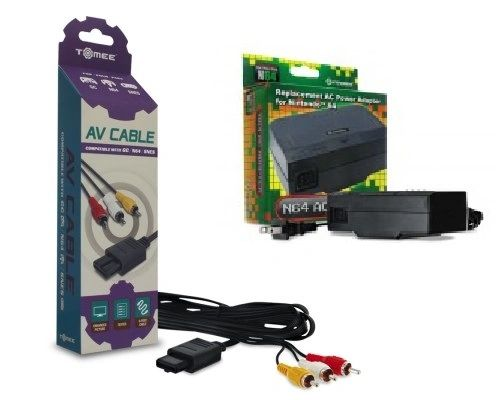 N64 AC Adapter and AV Cables