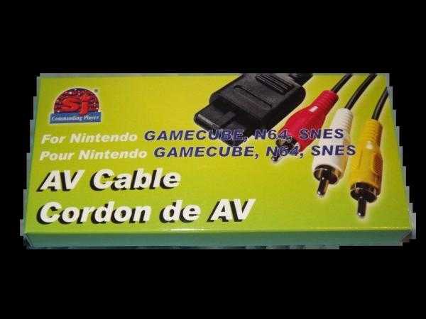 AV Cables for Nintendo GameCube, N64, SNES