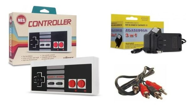 NES Controller with AC Adapter and AV Cables