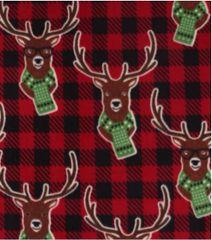 Reindeer on Buffalo Plaid