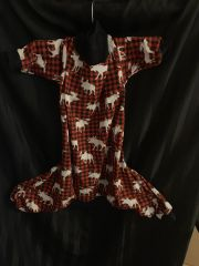 """Plaid Moose - cotton """" Ready to ship - Med,Lg & XL """" and Human Pjs"""